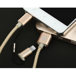 KABEL BASEUS MFI Antila 2w1 micro USB Lightning 1m