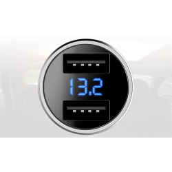 ŁADOWARKA ROCK H2 2xUSB Wyświetlacz LED 3.4A