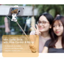 MINI SELFIE STICK ROCK LUSTERKO mini Jack 3.5mm