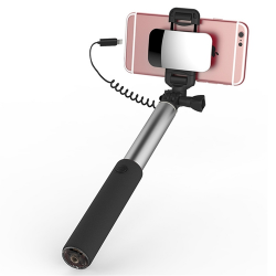 SELFIE STICK ROCK Z LUSTERKIEM Lightning do iPhone