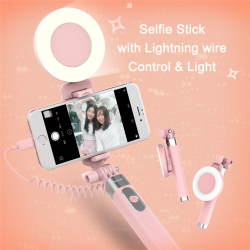 SELFIE STICK ROCK Z LAMPĄ iPhone SE/6/6S/7/7 Plus