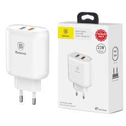 Baseus Bojure ładowarka sieciowa Dual QC 3.0 USB