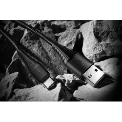 KABEL ROCK USB-C WZMOCNIONY NYLONOWY 2M 2A
