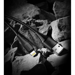 KABEL ROCK LIGHTNING WZMOCNIONY NYLONOWY IPHONE 2M