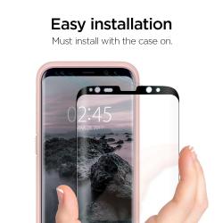 SZKŁO HARTOWANE SPIGEN Curved do Galaxy S9 Plus