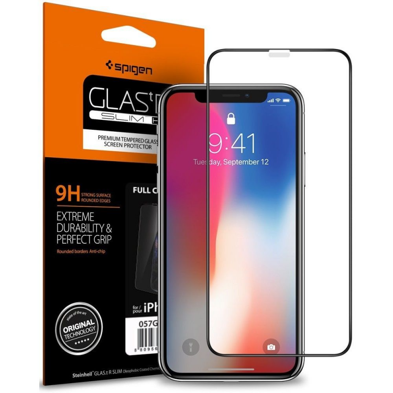 SZKŁO SPIGEN GLAS.TR FULL COVER do iPhone X/Xs