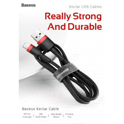 KABEL BASEUS Kevlar do Lightning iPhone 50CM 2.4A