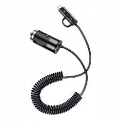 ŁADOWARKA SAMOCHODOWA BASEUS KABEL USB-C Lightning