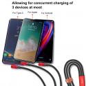 KABEL BASEUS MVP 3w1 microUSB USB-C Lightning 1.2M