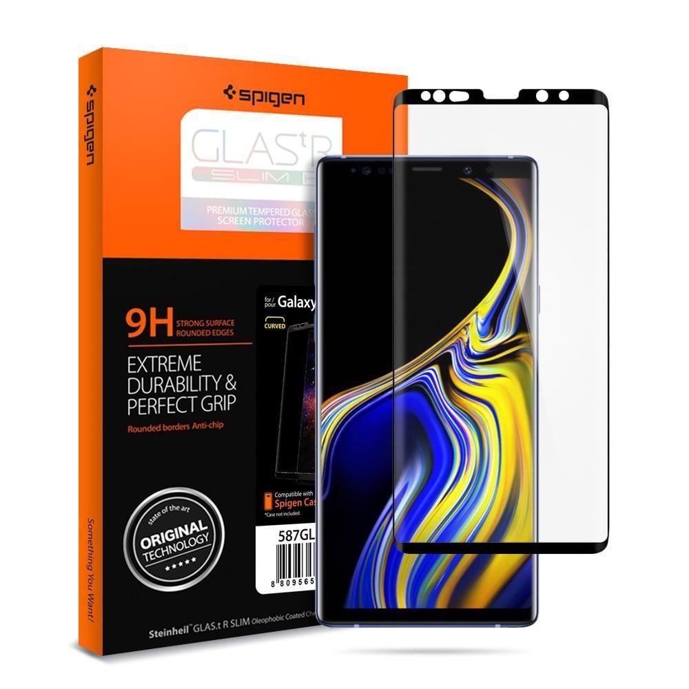 75404f7d37ba4 SZKŁO HARTOWANE SPIGEN Curved do Galaxy Note 9 - Daben