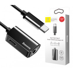 ADAPTER BASEUS USB-C do USB-C + mini Jack 3.5mm