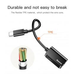 ADAPTER BASEUS USB-C do USB-C + mini Jack 3.5mm
