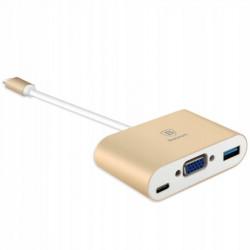 HUB BASEUS ADAPTER USB-C do VGA + USB MacBook