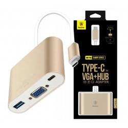HUB BASEUS ADAPTER USB-C do VGA + USB MacBook