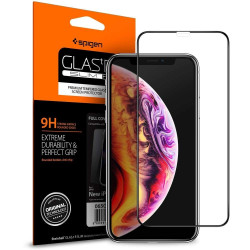SZKŁO SPIGEN GLAS.TR FULL COVER do iPhone Xs Max
