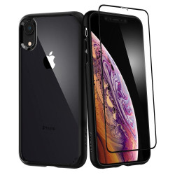 ETUI SPIGEN Ultra Hybrid 360 iPhone Xr + SZKŁO