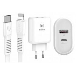 Ladowarka USB-C 32W QC Baseus Bojure + kabel Lightning