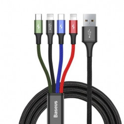 KABEL BASEUS 4W1 (2x LIGHTNING) MICRO USB-C 1.2M