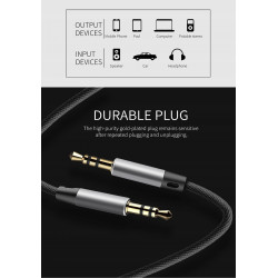 KABEL BASEUS 2w1 LIGHTNING+JACK do AUDIO JACK 3.5m