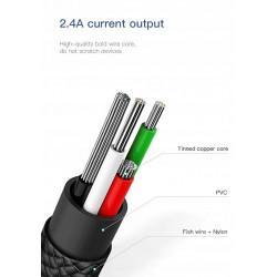 KABEL BASEUS 2w1 U-Shaped USB-C + Lightning 23CM