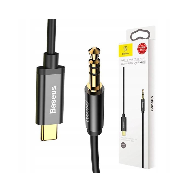 KABEL BASEUS AUDIO JACK 3.5MM do USB-C 1.2M