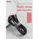 KABEL BASEUS CAFULE NYLONOWY USB-C 1M 3A QC3.0