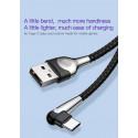 KABEL BASEUS MVP Nylonowy Kątowy USB-C 2M 2A