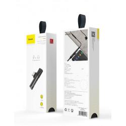 ADAPTER KĄTOWY BASEUS USB-C do USB-C + Jack 3.5mm
