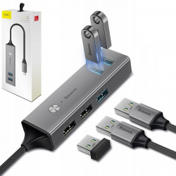 HUB BASEUS ADAPTER Cube USB-C do 5x USB MacBook
