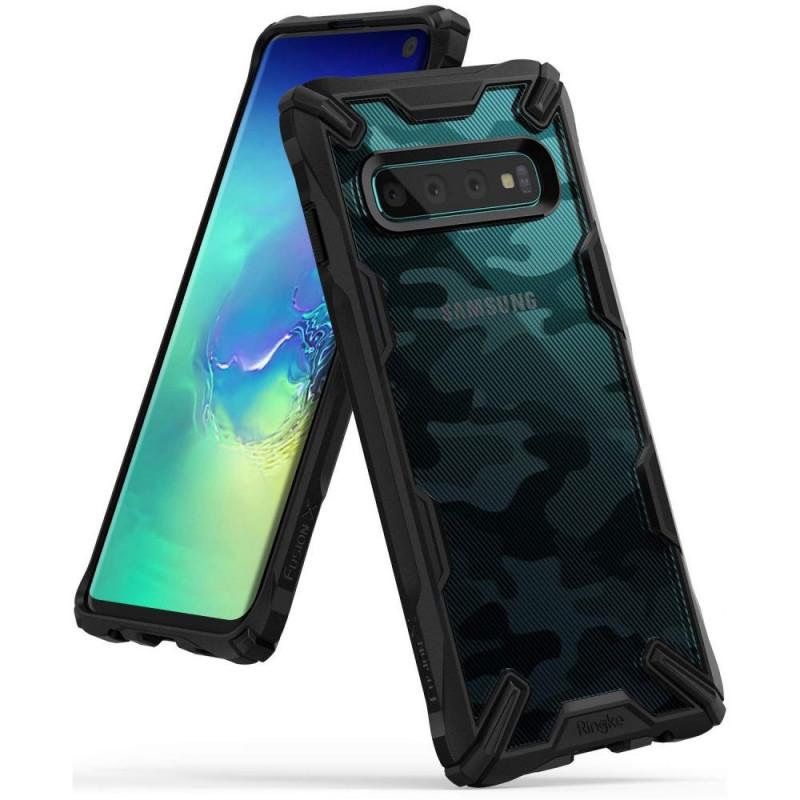 ETUI RINGKE MORO Fusion X Samsung Galaxy S10