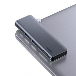 HUB BASEUS 5w1 USB-C PD 2x USB 3.0 + CZYTNIK KART