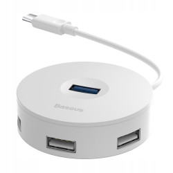 HUB BASEUS ADAPTER ROUND BOX DO USB-C 4xUSB