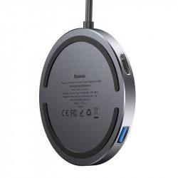 ŁADOWARKA INDUKCYJNA HUB BASEUS USB-C HDMI 4k USB
