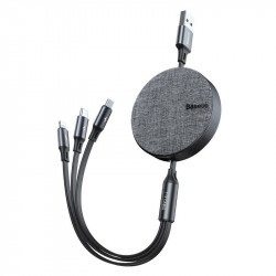 KABEL BASEUS 3w1 USB-C / Lightning / Micro 1.2m