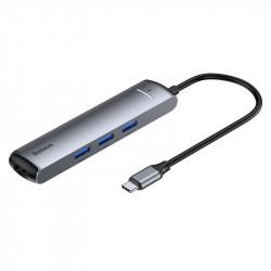 HUB BASEUS ADAPTER 6w1 USB-C na 3x USB 3.0 HDMI