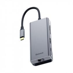 HUB BASEUS ADAPTER 7w1 USB-C 2xUSB 3.0 HDMI RJ45