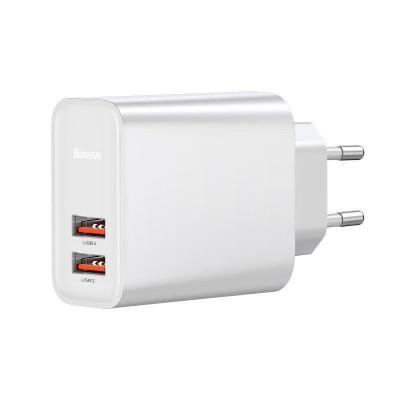 ŁADOWARKA SIECIOWA BASEUS Quick Charge 2x USB 30W