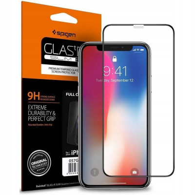 SZKŁO SPIGEN GLAS.TR FULL COVER do iPhone 11 PRO/XS/X