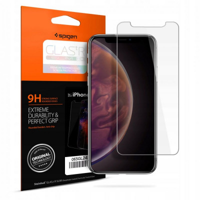 SZKŁO HARTOWANE SPIGEN GLAS.tR Slim HD iPhone Xr
