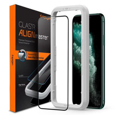 SZKŁO SPIGEN ALIGN MASTER FULL COVER do iPhone 11 PRO Max/XS Max