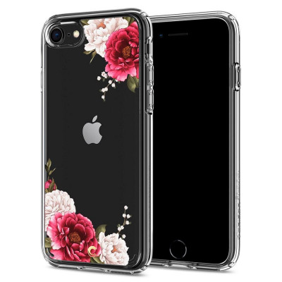 ETUI SPIGEN CIEL RED FLORAL do iPhone 8 / 7 / SE 2020