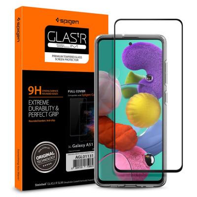 SZKŁO 9H SPIGEN FULL COVER Samsung Galaxy A51