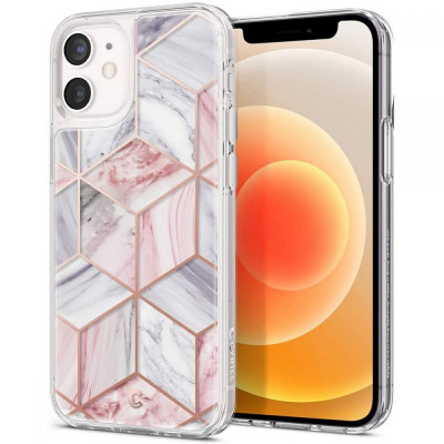 ETUI SPIGEN Ciel Pink Marble iPhone 12 Mini