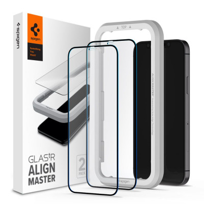 SZKŁO SPIGEN ALIGN MASTER FULL COVER do IPHONE 12/12 PRO 2 PACK