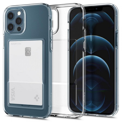 ETUI SPIGEN CRYSTAL SLOT iPhone 12/12 Pro